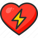 beat, bolt, discharge, heart, hospital, medical