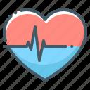 pulse, cardiogram, heartbeat, heart, love