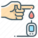 analysis, test, glucose, meter, blood, finger, glucose meter