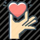 heart, love, volunteer, hand