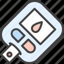 diabetes, sugar test, glucometer, blood test, glucose, sugar icon