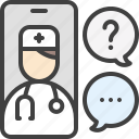 chat, doctor, distance, phone, consultation icon