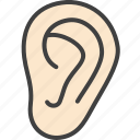 ear, hear, listen, medical icon