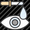 dropper, eye, eye care, eye drops, eye infection, pipette icon
