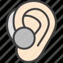 aid, digital, ear, hearing, hearing aid icon
