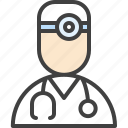 doctor, oculist, ophthalmologist, otolaryngologist, physician icon