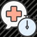 consultation, emergency, help, medical, urgent icon