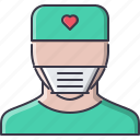 disease, doctor, hospital, mask, medicine, surgeon, treatment icon