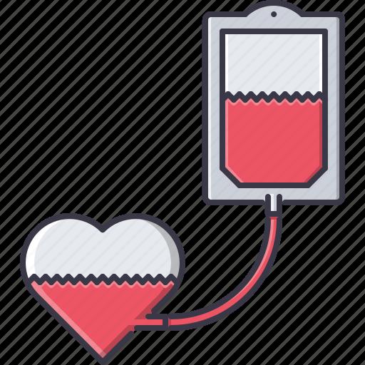 blood, disease, heart, hospital, medicine, transfusion, treatment icon