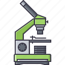 disease, hospital, laboratory, medicine, microscope, study, treatment icon