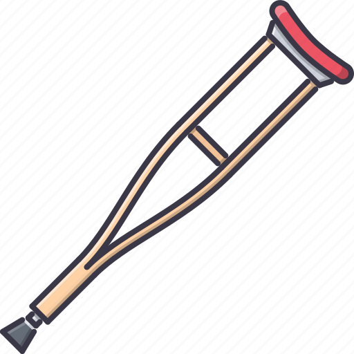 crutch, disabled, disease, hospital, medicine, treatment icon