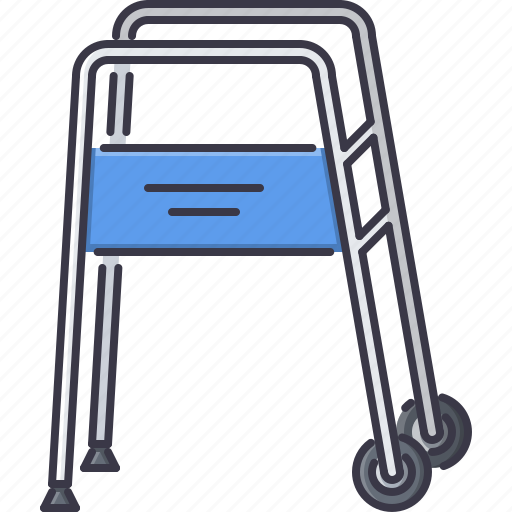 carts, disabled, disease, go, hospital, medicine, treatment icon