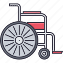 disabled, disease, hospital, medicine, treatment, wheelchair icon