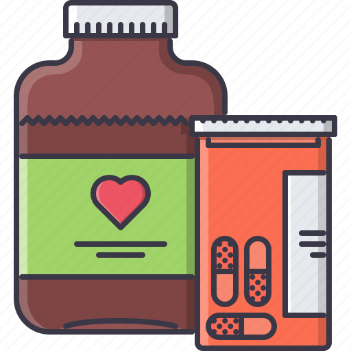 disease, hospital, medicament, medicine, pill, syrup, treatment icon