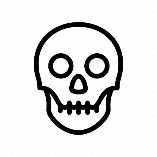 anatomy, bone, dead, death, human, skeleton, skull icon