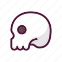 anatomy, bone, bones, dead, halloween, skeleton, skull icon