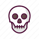 anatomy, bone, bones, death, halloween, skeleton, skull icon