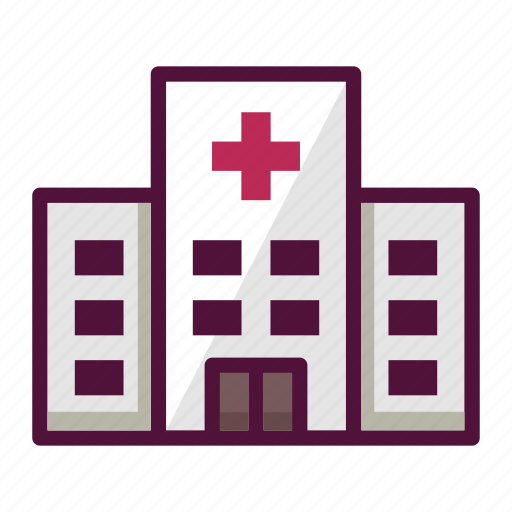 ambulance, building, clinic, doctor, estate, healthcare, hospital icon