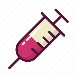 injecting, injection, injector, intravenous, syringe, vaccine, venipuncture icon