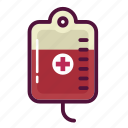 blood, blood bag, iv therapy, medicine, pharmacy, transfusion, treatment icon