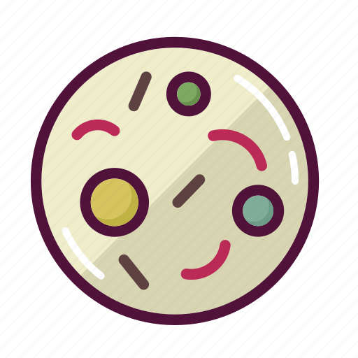 bacteria, germs, infection, microbe, microscope, science, virus icon