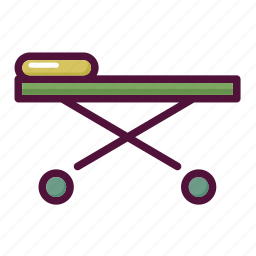 ambulance, barrow, healthcare, hospital, patient, stretcher, treatment icon