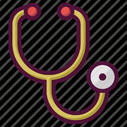 cardiology, doctor, healthcare, hospital, phonendoscope, stethoscope, treatment icon