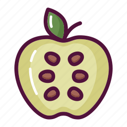 apple, diet, food, fruit, healthy, vegetable, vitamin icon
