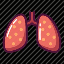 anatomy, lungs, medicine, organ, pneumonia, tuberculosis, xray icon