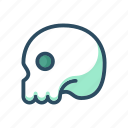 anatomy, bones, halloween, healthcare, human, medical, skull icon