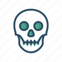 anatomy, bone, bones, death, halloween, human, skull icon