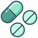 cure, drug, medicine, pharmacy, pill, pills, treatment icon