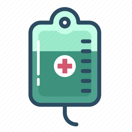 blood, blood bag, healthcare, iv, iv therapy, medicine, transfusion icon