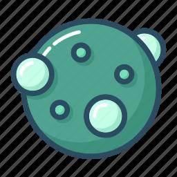 atom, bacteria, microscope, molecule, nuclear, science, virus icon