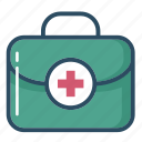 bag, case, doctor, first aid kit, medicine chest, suitcase, surgical bag icon