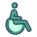 cripple, disabled, handicap, handicapped, invalid, patient, wheelchair icon