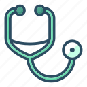 ambulance, cardiology, doctor, healthcare, hospital, phonendoscope, stethoscope icon
