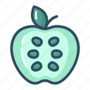 apple, diet, fruit, healthy food, nutrition, vegetable, vitamin icon