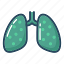 anatomy, lung, lungs, organ, pneumonia, tuberculosis, xray icon