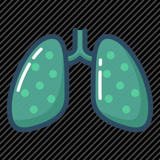 anatomy, lung, lungs, organ, pneumonia, tuberculosis, xray icon