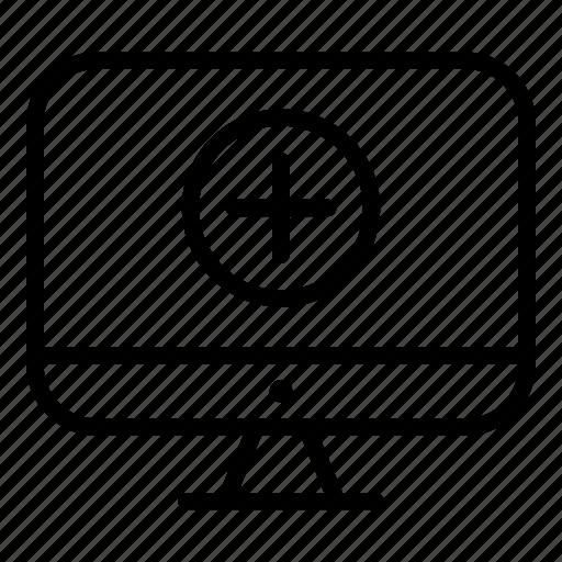 computer, display, doctor, healthcare, hospital, medicine, monitor icon
