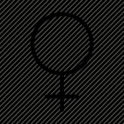 female, gender symbol, girl, lady, sex, woman, women icon
