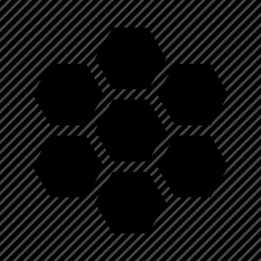 apitherapy, bee, beehive, hexagon, honey, honeycomb, sweet icon