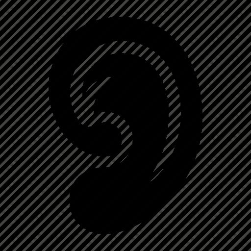 deaf, ear, hearing, otolaryngology, pinna, sound, volume icon