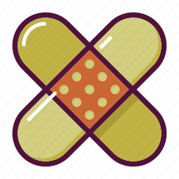 aid, bandage, first aid, injury, patch, plaster, platter icon