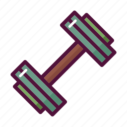 barbell, dumbbell, exercise, fitness, gym, sport, training icon