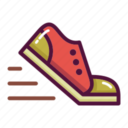 fitness, gym, run, running, sneakers, sport, training icon