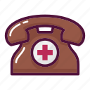 ambulance, call, clinic, hospital, phone, smartphone, telephone icon