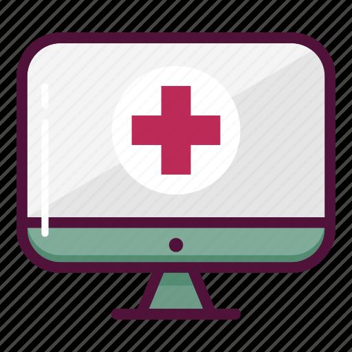 computer, display, healthcare, hospital, medicine, monitor, screen icon