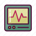 ambulance, cacrdiology, healthcare, heart monitor, heartbeat, hospital, pulse icon